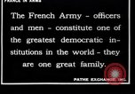 Image of French Army recruits France, 1917, second 9 stock footage video 65675027279