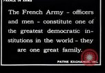 Image of French Army recruits France, 1917, second 10 stock footage video 65675027279