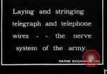 Image of French soldiers installing battlefield communications France, 1916, second 1 stock footage video 65675027286