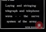 Image of French soldiers installing battlefield communications France, 1916, second 2 stock footage video 65675027286