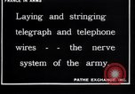 Image of French soldiers installing battlefield communications France, 1916, second 4 stock footage video 65675027286