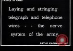 Image of French soldiers installing battlefield communications France, 1916, second 7 stock footage video 65675027286