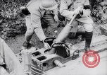 Image of French soldiers load shell on trench mortar France, 1916, second 9 stock footage video 65675027299