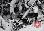 Image of French soldiers load shell on trench mortar France, 1916, second 10 stock footage video 65675027299
