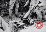Image of French soldiers load shell on trench mortar France, 1916, second 12 stock footage video 65675027299