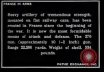 Image of French railroad guns France, 1916, second 6 stock footage video 65675027310