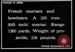 Image of French mortars and howitzers in World War I France, 1916, second 2 stock footage video 65675027312