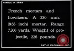 Image of French mortars and howitzers in World War I France, 1916, second 6 stock footage video 65675027312
