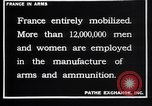 Image of French munitions workers France, 1915, second 3 stock footage video 65675027315