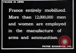 Image of French munitions workers France, 1915, second 6 stock footage video 65675027315
