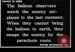 Image of French observation balloon France, 1916, second 5 stock footage video 65675027332