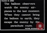 Image of French observation balloon France, 1916, second 10 stock footage video 65675027332