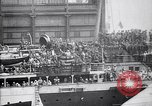 Image of US troop ship backing out of berth New York United States USA, 1918, second 12 stock footage video 65675027343