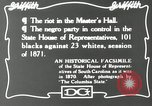 Image of Negro legislature South Carolina United States USA, 1916, second 9 stock footage video 65675027384