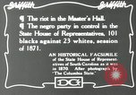 Image of Negro legislature South Carolina United States USA, 1916, second 10 stock footage video 65675027384