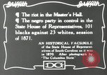 Image of Negro legislature South Carolina United States USA, 1916, second 11 stock footage video 65675027384