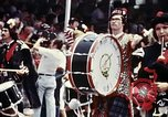 Image of band in kilts Washington DC USA, 1976, second 4 stock footage video 65675027399