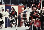 Image of band in kilts Washington DC USA, 1976, second 6 stock footage video 65675027399