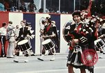 Image of band in kilts Washington DC USA, 1976, second 7 stock footage video 65675027399