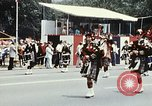 Image of band in kilts Washington DC USA, 1976, second 9 stock footage video 65675027399