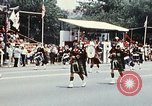 Image of band in kilts Washington DC USA, 1976, second 10 stock footage video 65675027399