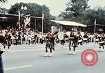 Image of band in kilts Washington DC USA, 1976, second 11 stock footage video 65675027399