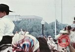 Image of train float Washington DC USA, 1976, second 7 stock footage video 65675027400