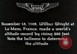 Image of Wilbur Wright Le Mans France, 1942, second 4 stock footage video 65675027438