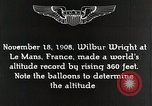 Image of Wilbur Wright Le Mans France, 1942, second 7 stock footage video 65675027438