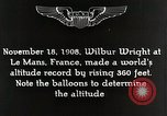 Image of Wilbur Wright Le Mans France, 1942, second 8 stock footage video 65675027438
