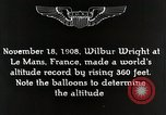 Image of Wilbur Wright Le Mans France, 1942, second 11 stock footage video 65675027438