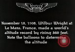 Image of Wilbur Wright Le Mans France, 1942, second 12 stock footage video 65675027438