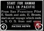 Image of pilot Smith and navigator Bronte Oakland California United States USA, 1927, second 9 stock footage video 65675027440