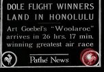 Image of 1927 Dole Derby Air Race Honolulu Hawaii USA, 1927, second 1 stock footage video 65675027442