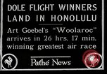 Image of 1927 Dole Derby Air Race Honolulu Hawaii USA, 1927, second 2 stock footage video 65675027442