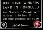 Image of 1927 Dole Derby Air Race Honolulu Hawaii USA, 1927, second 3 stock footage video 65675027442
