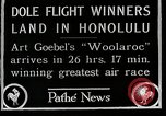 Image of 1927 Dole Derby Air Race Honolulu Hawaii USA, 1927, second 4 stock footage video 65675027442