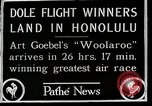 Image of 1927 Dole Derby Air Race Honolulu Hawaii USA, 1927, second 5 stock footage video 65675027442