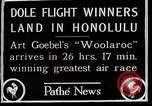 Image of 1927 Dole Derby Air Race Honolulu Hawaii USA, 1927, second 6 stock footage video 65675027442