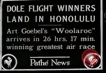 Image of 1927 Dole Derby Air Race Honolulu Hawaii USA, 1927, second 7 stock footage video 65675027442