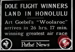 Image of 1927 Dole Derby Air Race Honolulu Hawaii USA, 1927, second 8 stock footage video 65675027442