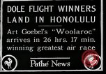 Image of 1927 Dole Derby Air Race Honolulu Hawaii USA, 1927, second 9 stock footage video 65675027442