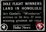 Image of 1927 Dole Derby Air Race Honolulu Hawaii USA, 1927, second 10 stock footage video 65675027442