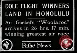 Image of 1927 Dole Derby Air Race Honolulu Hawaii USA, 1927, second 11 stock footage video 65675027442