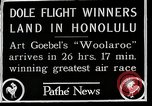 Image of 1927 Dole Derby Air Race Honolulu Hawaii USA, 1927, second 12 stock footage video 65675027442