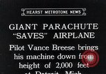Image of pilot Vance Breese Detroit Michigan USA, 1935, second 1 stock footage video 65675027484