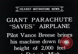 Image of pilot Vance Breese Detroit Michigan, 1935, second 2 stock footage video 65675027484