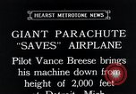 Image of pilot Vance Breese Detroit Michigan, 1935, second 3 stock footage video 65675027484