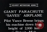 Image of pilot Vance Breese Detroit Michigan, 1935, second 4 stock footage video 65675027484