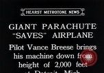 Image of pilot Vance Breese Detroit Michigan, 1935, second 9 stock footage video 65675027484